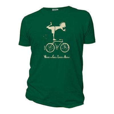 Tee-shirt coton bio vélo vert