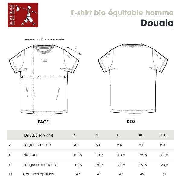 df0ce377caedc ... guide des tailles du Tee-shirt coton Bio ligne de vie kaki