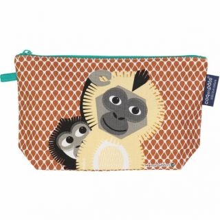 Trousse coton bio Gibbon recto