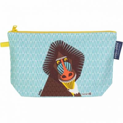 Trousse coton bio Mandrill recto