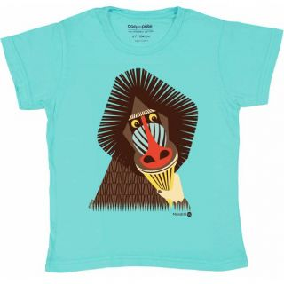 T-shirt coton bio mandrill face