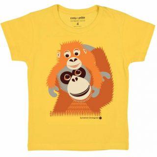 T-shirt coton bio orang-outan face