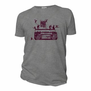 """Tee-shirt Bio Homme """"on n'arrête pas un peuple qui danse"""" gris"""