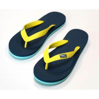 Tongs écologiques enfants Tokyo bleu et jaune