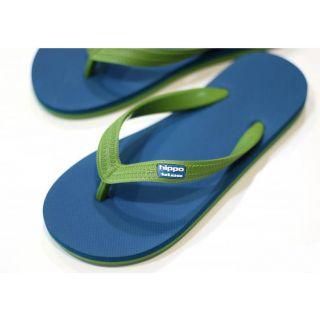 Tongs éthiques & écologiques blue green hawaï