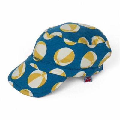 casquette bleue, imprimé ballons en coton bio