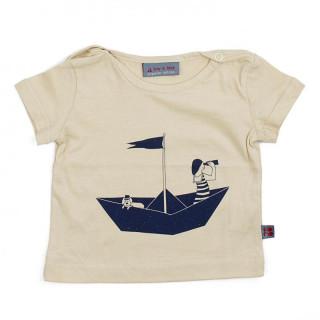 "T-shirt Bio Bébé ""marin & son chien"""