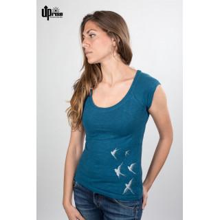 T-shirt Femme en chanvre et coton bio oiseaux