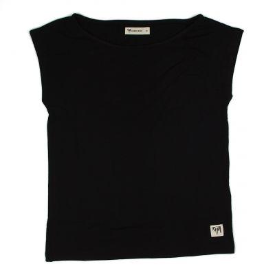 Tee shirt noir sans manche en bambou