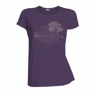 T-shirt coton bio femme couleur prune