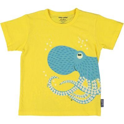 T-shirt coton bio et écoresponsable bleu ciel poulpe