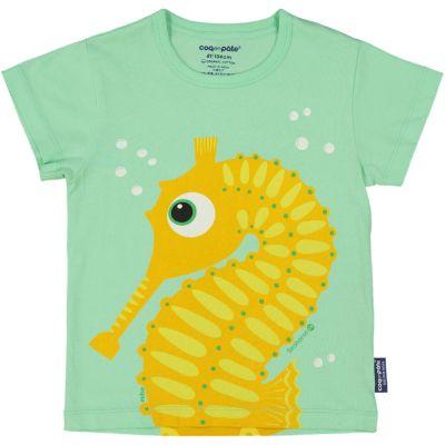 T-shirt coton bio et écoresponsable vert Hippocampe