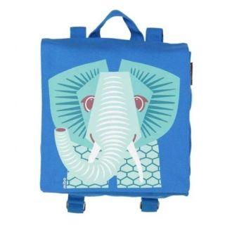 Sac à dos écologique pour la maternelle bleu avec imprimé éléphant