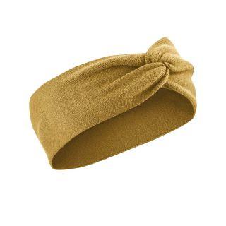 Bandeau serre tête chanvre et coton bio moutarde