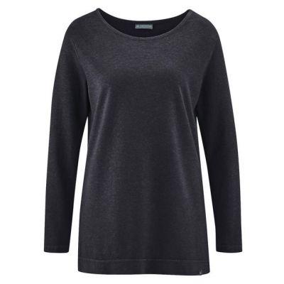 Tee shirt uni manches longues chanvre et coton bio anthracite