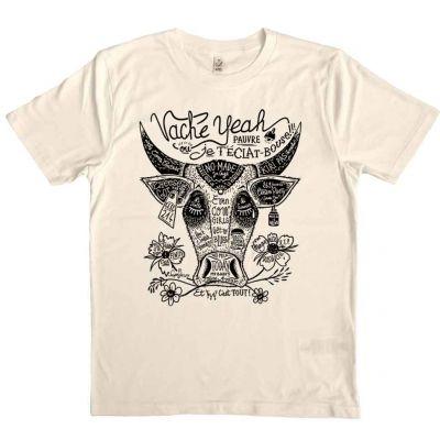 Tee shirt coton bio encres végétales imprimé vache