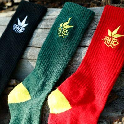 chaussettes chanvre et coton bio logo THTC