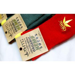 chaussettes chanvre et coton bio colorées