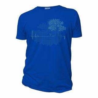 Tee-shirt coton Bio ligne de vie ardoise, vert, bleu