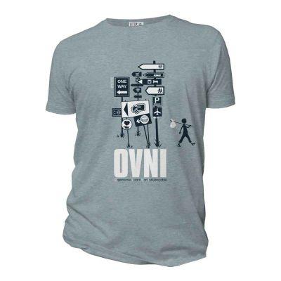 """T-shirt homme coton biologique """"OVNI"""""""