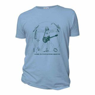 Tee shirt organic pour homme armes de distraction massive bleu ciel