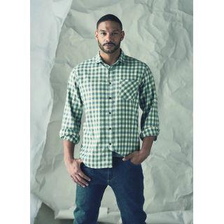 Chemise manches longues à carreaux coton bio chanvre