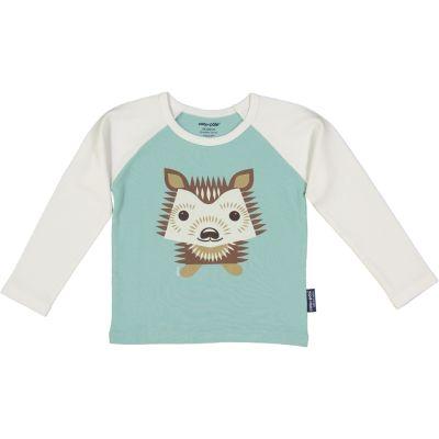 T-shirt raglan hérisson bleu clair
