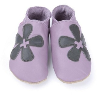 Chaussons Starchild modèle elle in mauve and grey
