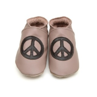 Chaussons Starchild Peace baby and taupe