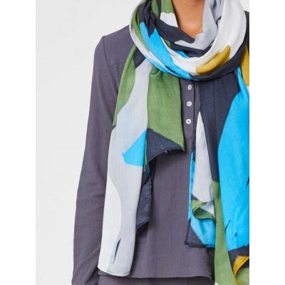 Grand foulard à fleurs 100% bambou