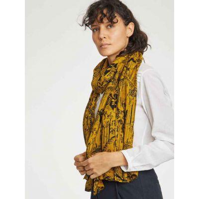 Echarpe, foulard 100% bambou imprimé végétal