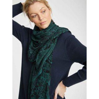 Grand foulard 100% bambou vert