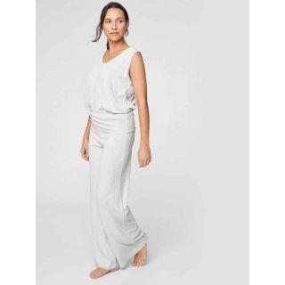 Pantalon de pyjama blanc en chanvre et coton bio