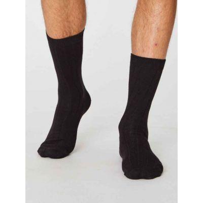 Chaussettes chanvre, coton biologique noir