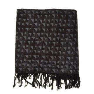 Cheche noir anthracite ethnic triangulaire psyché