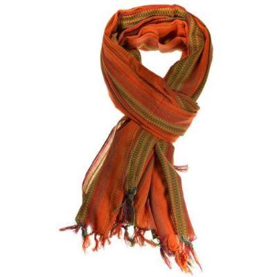 Cheche foulard avec dégradé de couleurs rouge et orange