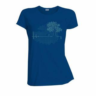 """Tee shirt bio et équitable couleur bleu """"Ligne de vie"""""""