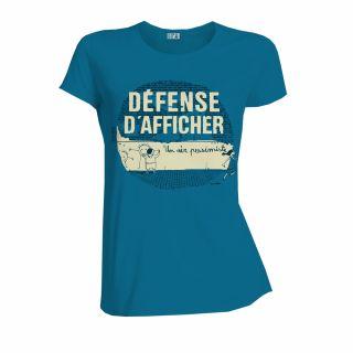 T-shirt femem coton bio bleu